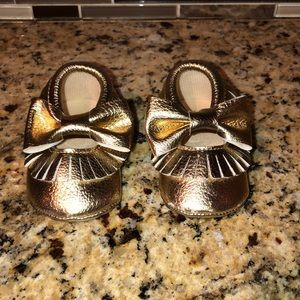 Other - Baby gold moccasins size 2-3